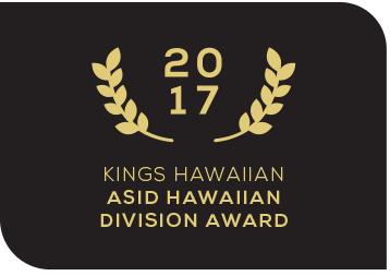 2017 Kings Hawaiian ASID Hawaiian division award