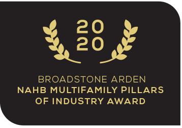 2020 Broadstone Arden NAHB Multifamily Pillars of Industry Award